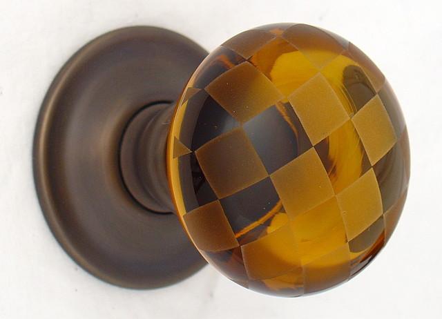amber glass door knobs photo - 3