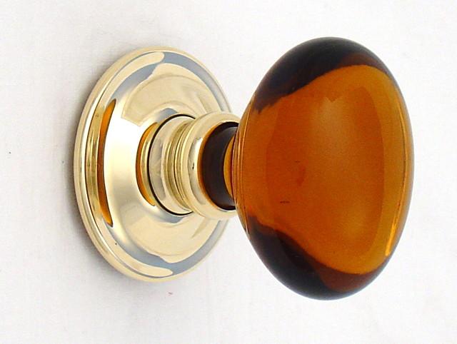 amber glass door knobs photo - 4