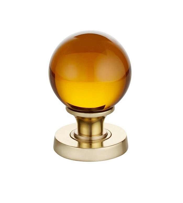 amber glass door knobs photo - 5