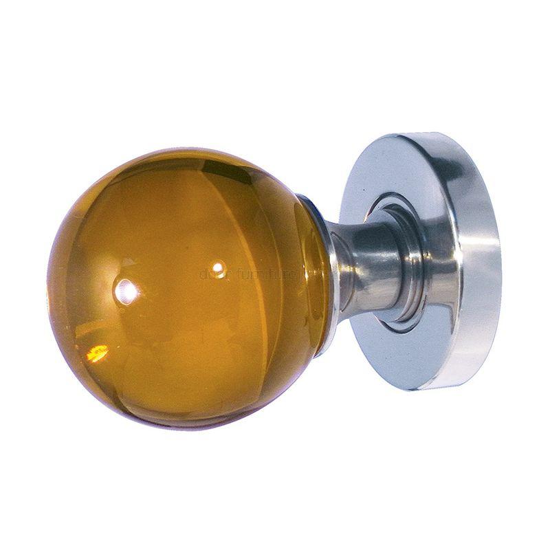 amber glass door knobs photo - 7