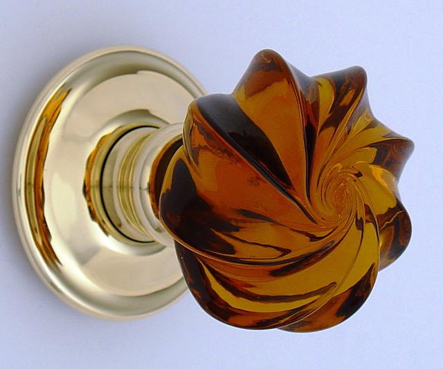 amber glass door knobs photo - 9