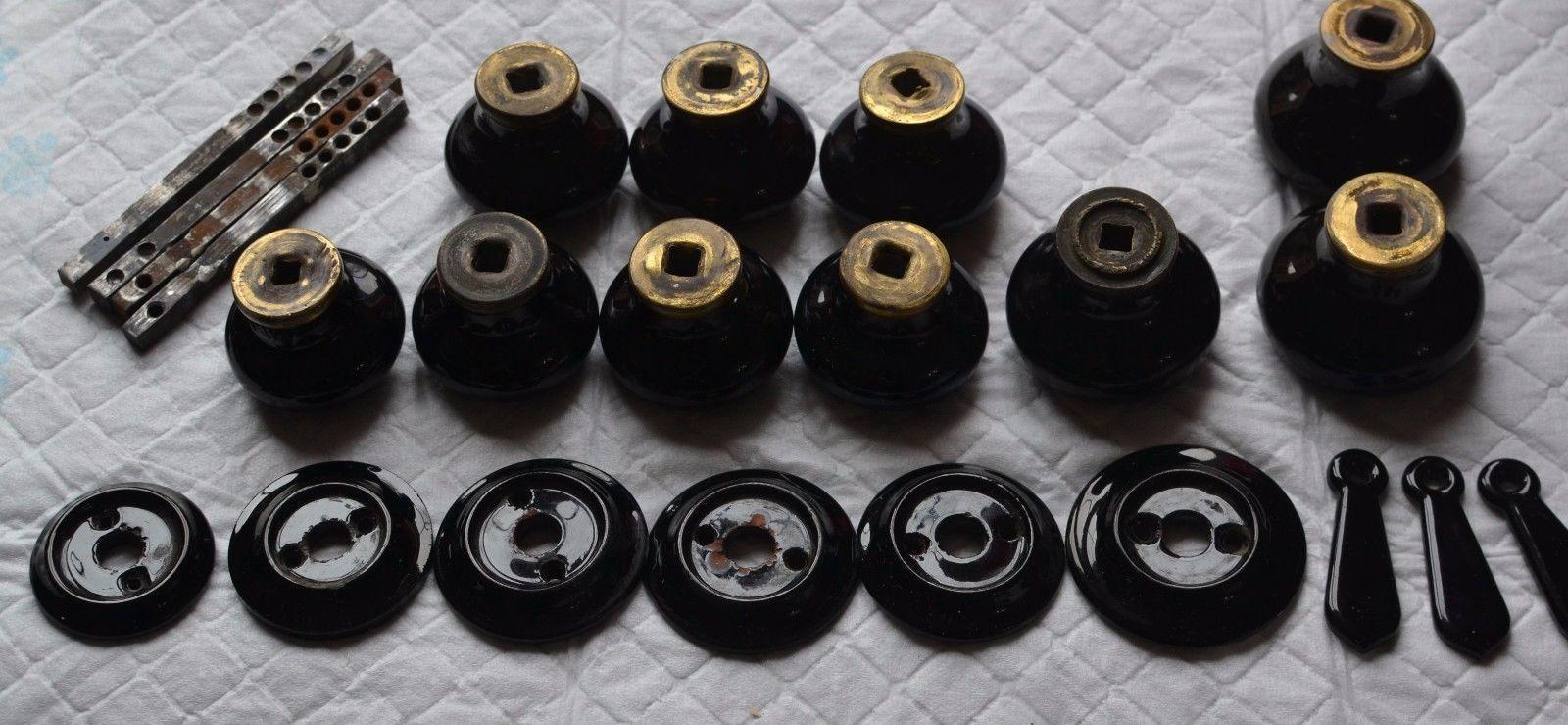 antique black door knobs photo - 11