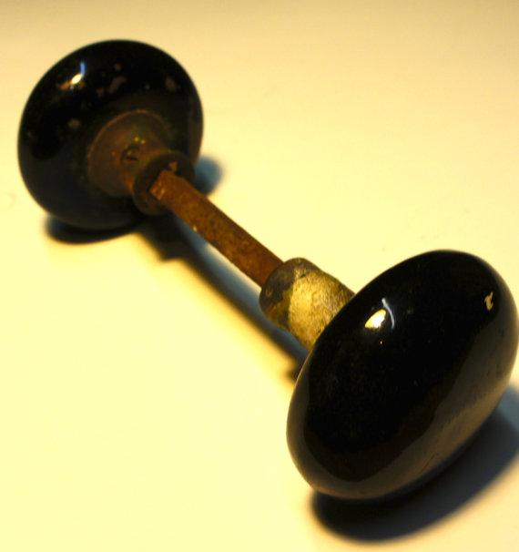 antique black door knobs photo - 4
