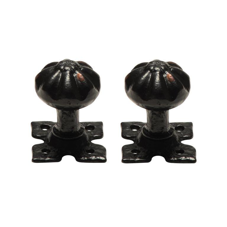 antique black door knobs photo - 7