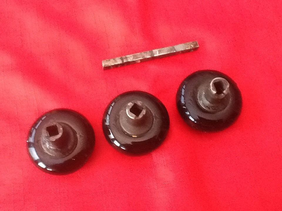 antique black door knobs photo - 9