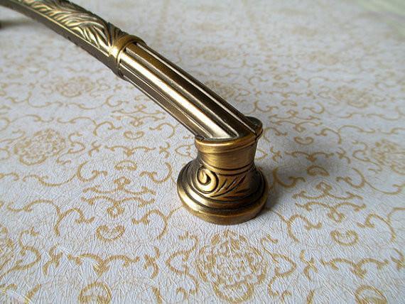 antique brass cupboard door knobs photo - 15