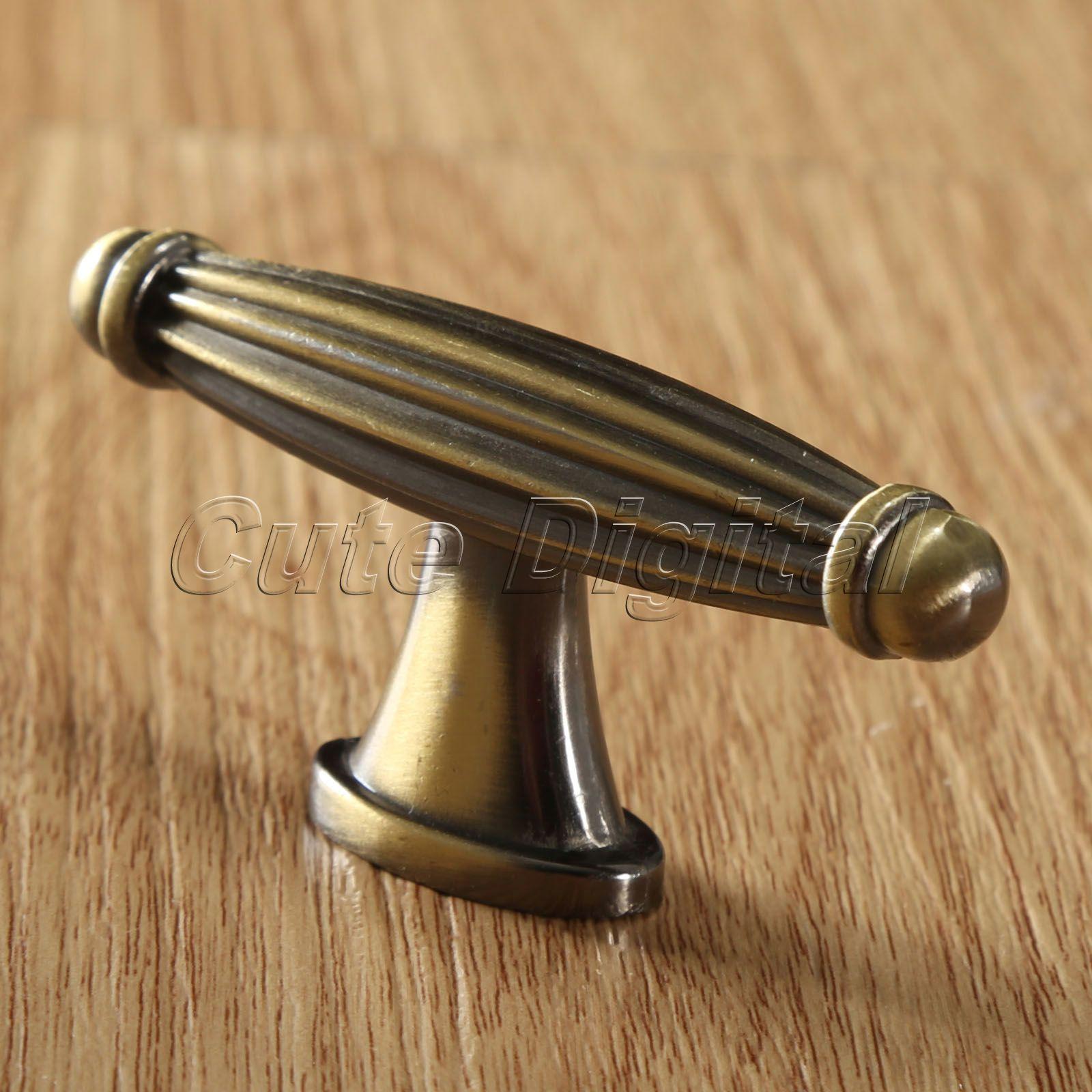 antique brass cupboard door knobs photo - 5