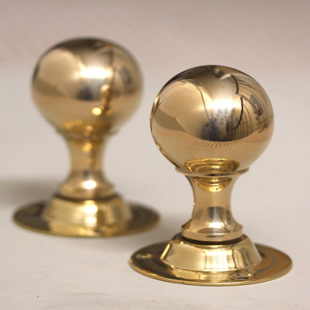 antique brass door knobs photo - 11