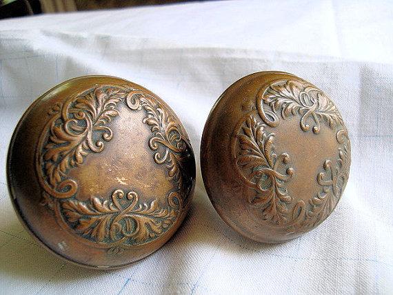antique brass door knobs photo - 18
