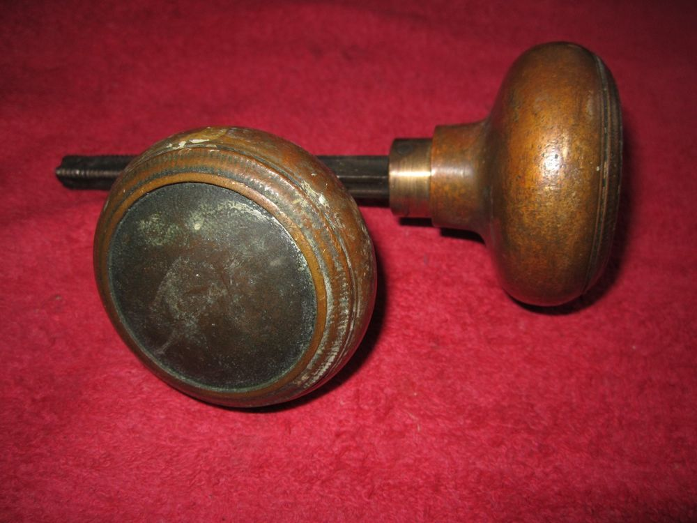 antique brass door knobs ebay photo - 3