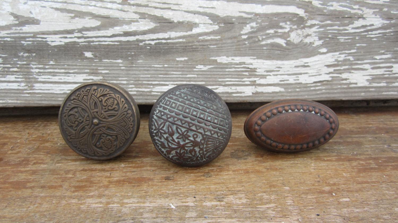 antique copper door knobs photo - 11