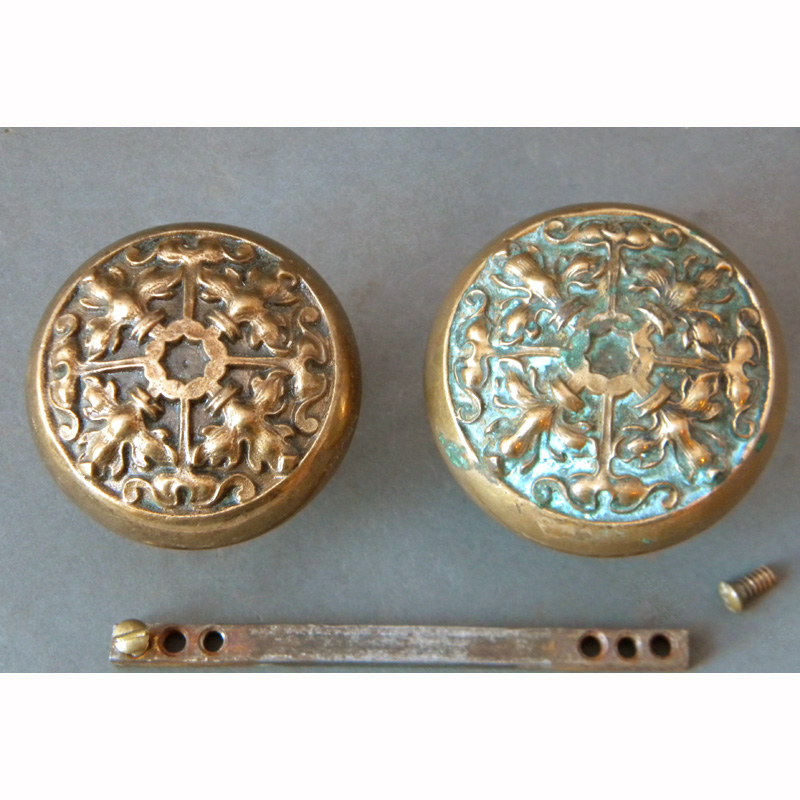 antique copper door knobs photo - 13