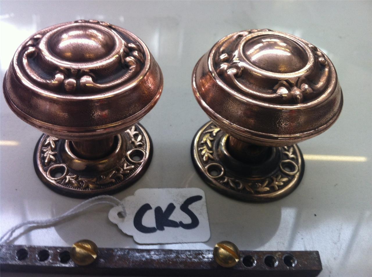 antique copper door knobs photo - 18