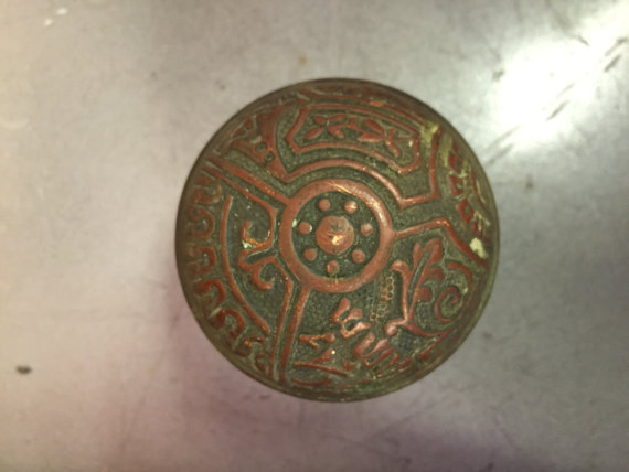 antique copper door knobs photo - 6