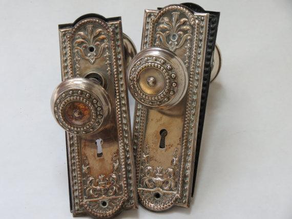 antique copper door knobs photo - 9