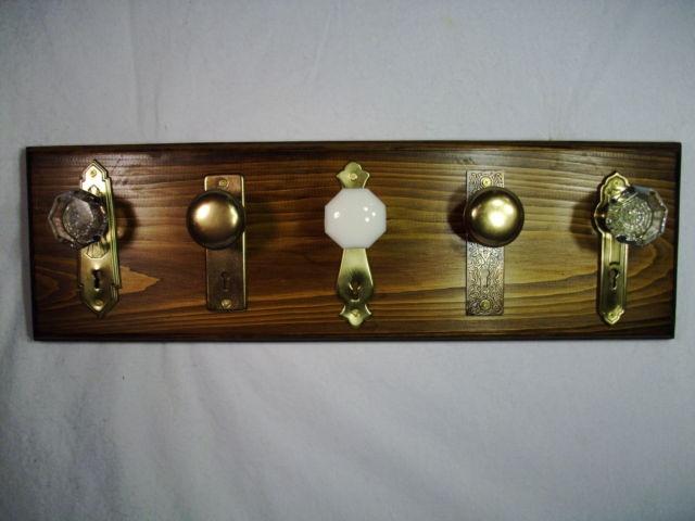 antique door knob coat rack photo - 1