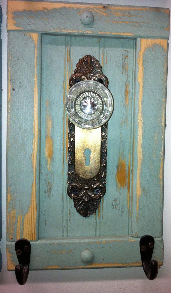 antique door knob coat rack photo - 11