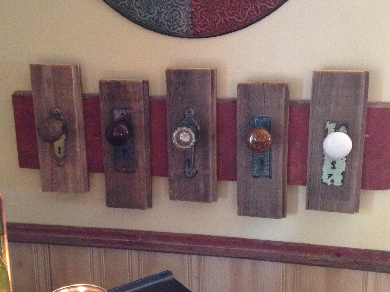 antique door knob coat rack photo - 13