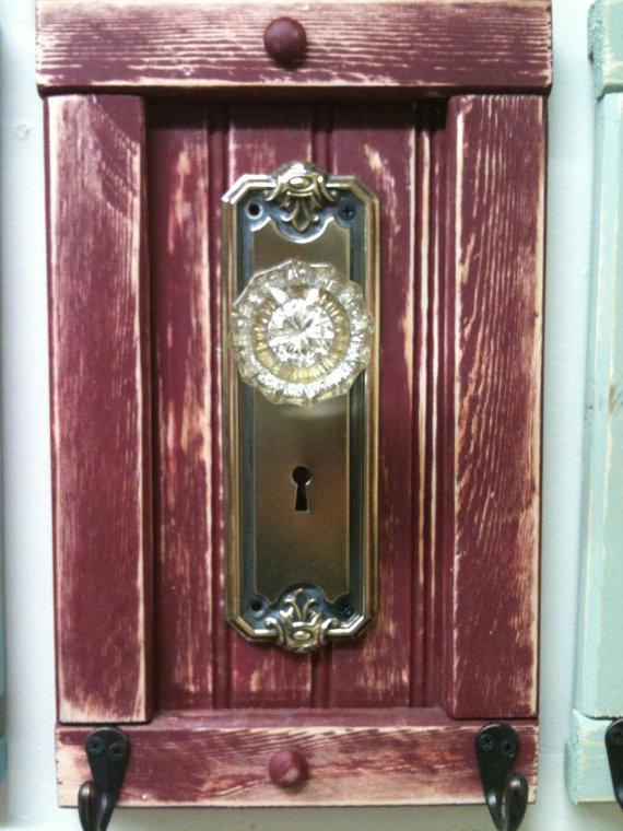 antique door knob coat rack photo - 15