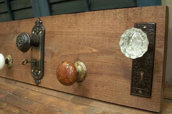 antique door knob coat rack photo - 17