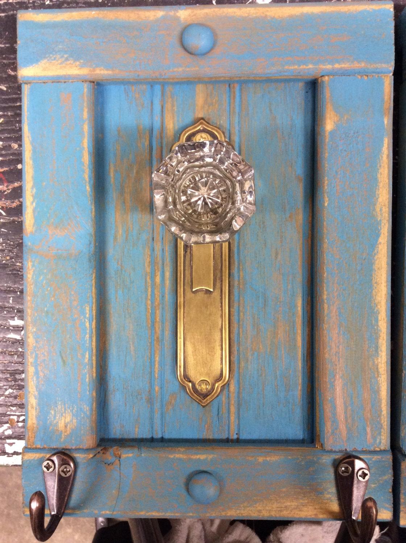 antique door knob coat rack photo - 18
