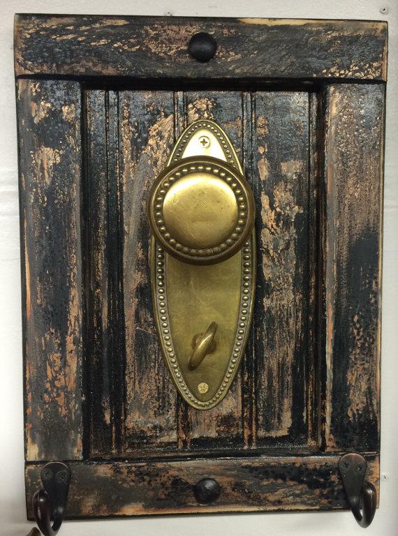 antique door knob coat rack photo - 2