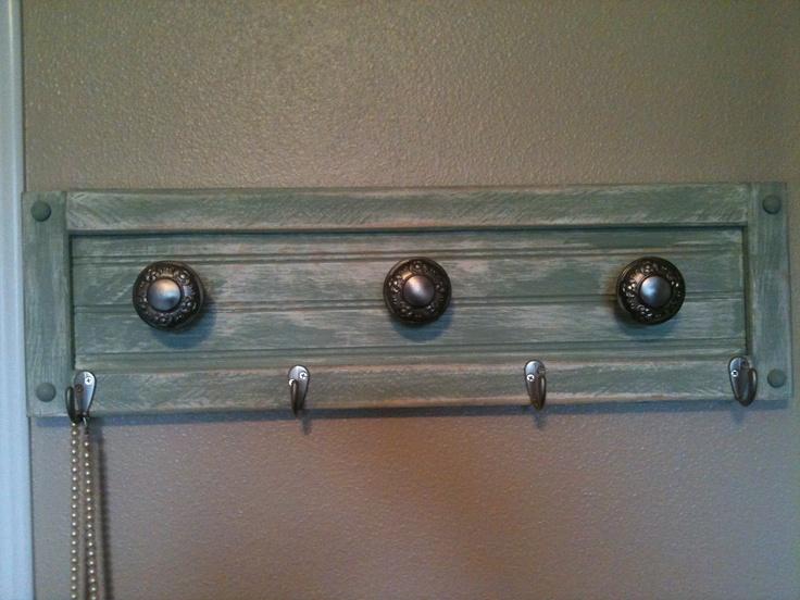 antique door knob coat rack photo - 20