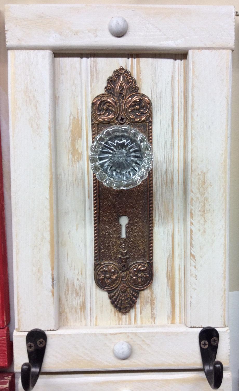 antique door knob coat rack photo - 3