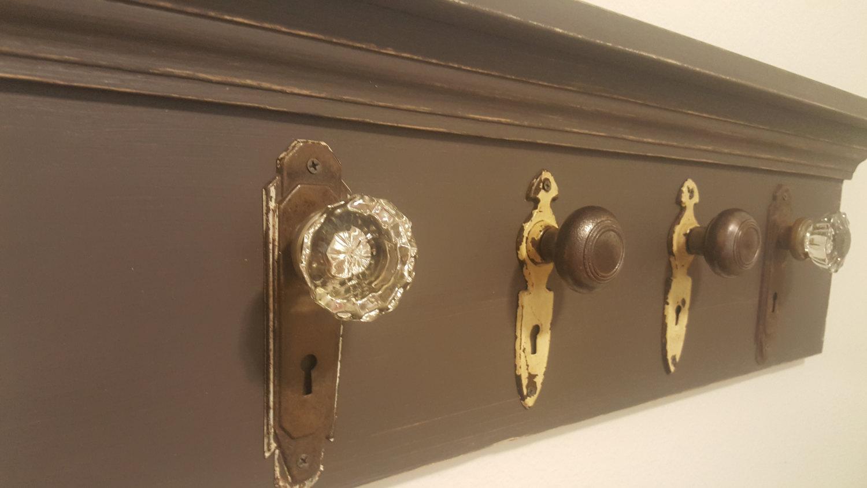 antique door knob coat rack photo - 4