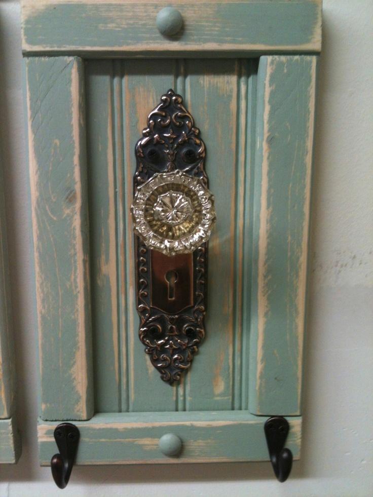 antique door knob coat rack photo - 6