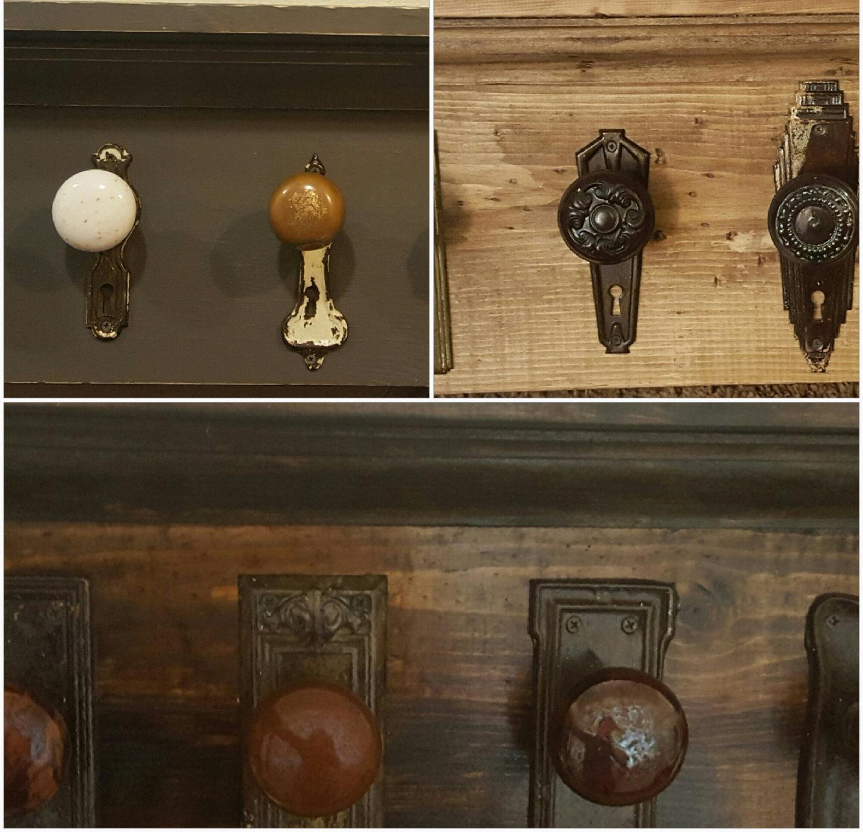 antique door knob coat rack photo - 7