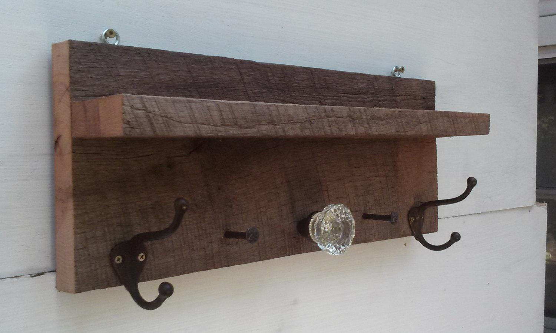 antique door knob coat rack photo - 8