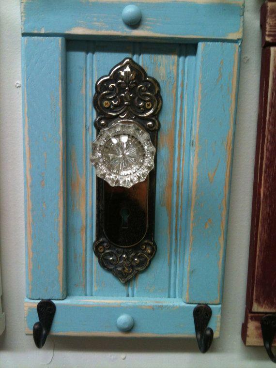antique door knob coat rack photo - 9