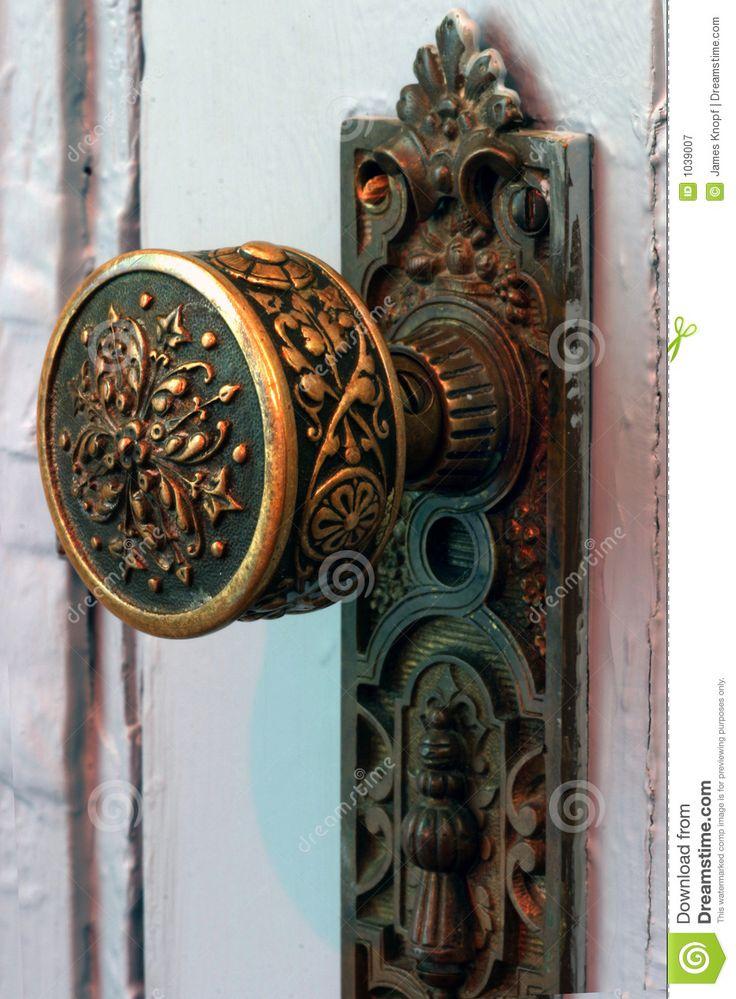 antique door knob hardware photo - 11