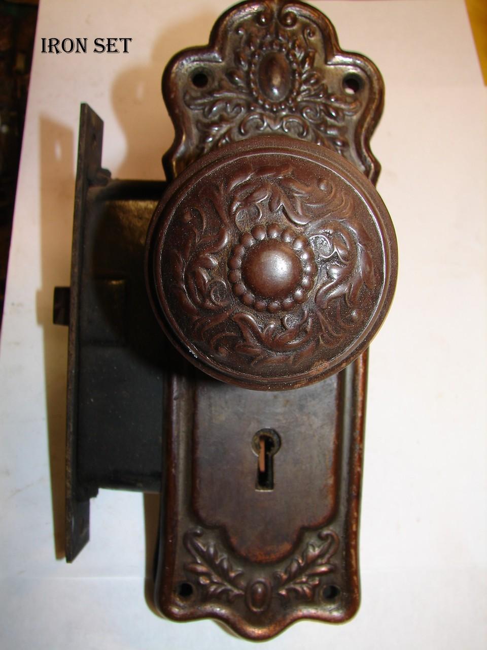 antique door knob hardware photo - 6