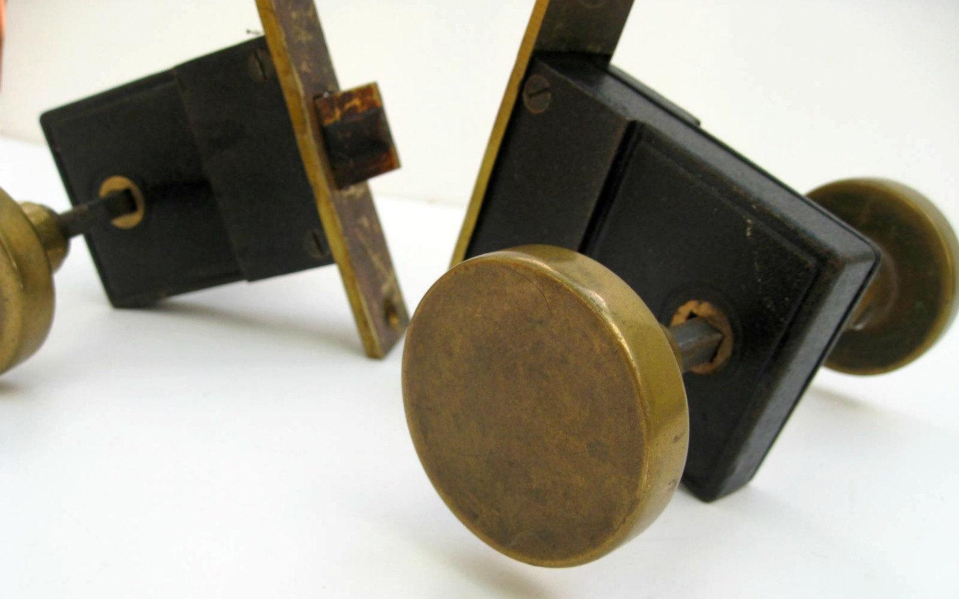 antique door knob hardware photo - 7