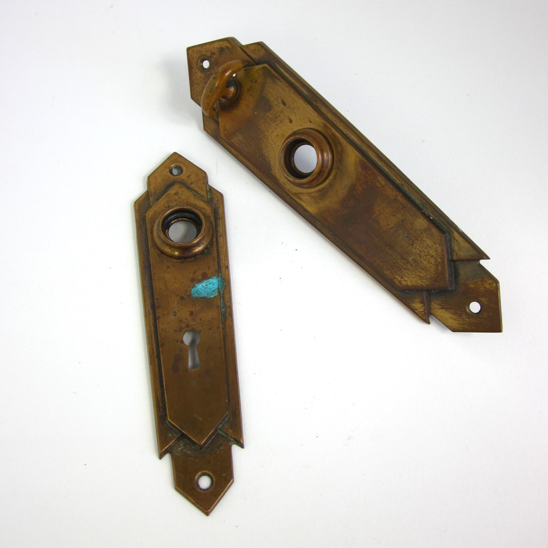antique door knob plates photo - 7