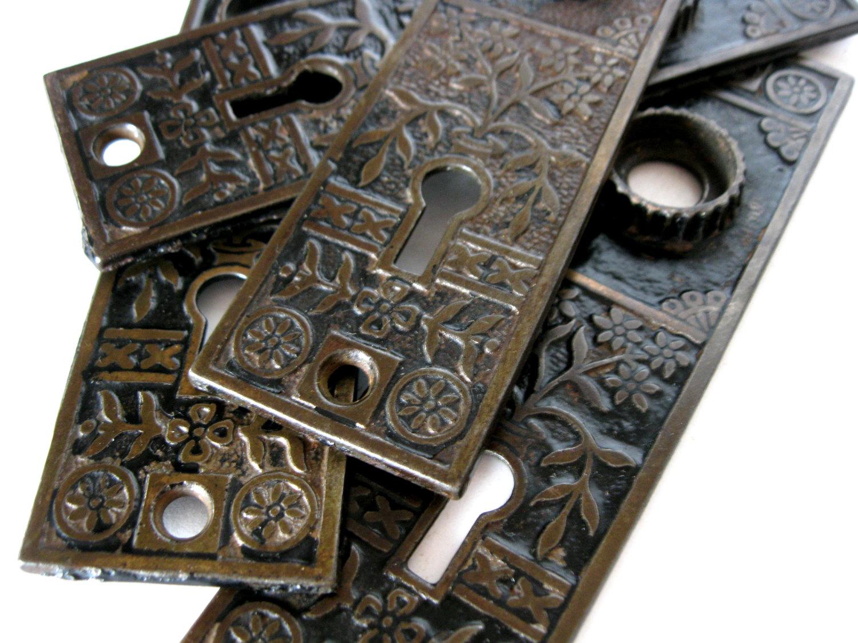 antique door knob plates photo - 9