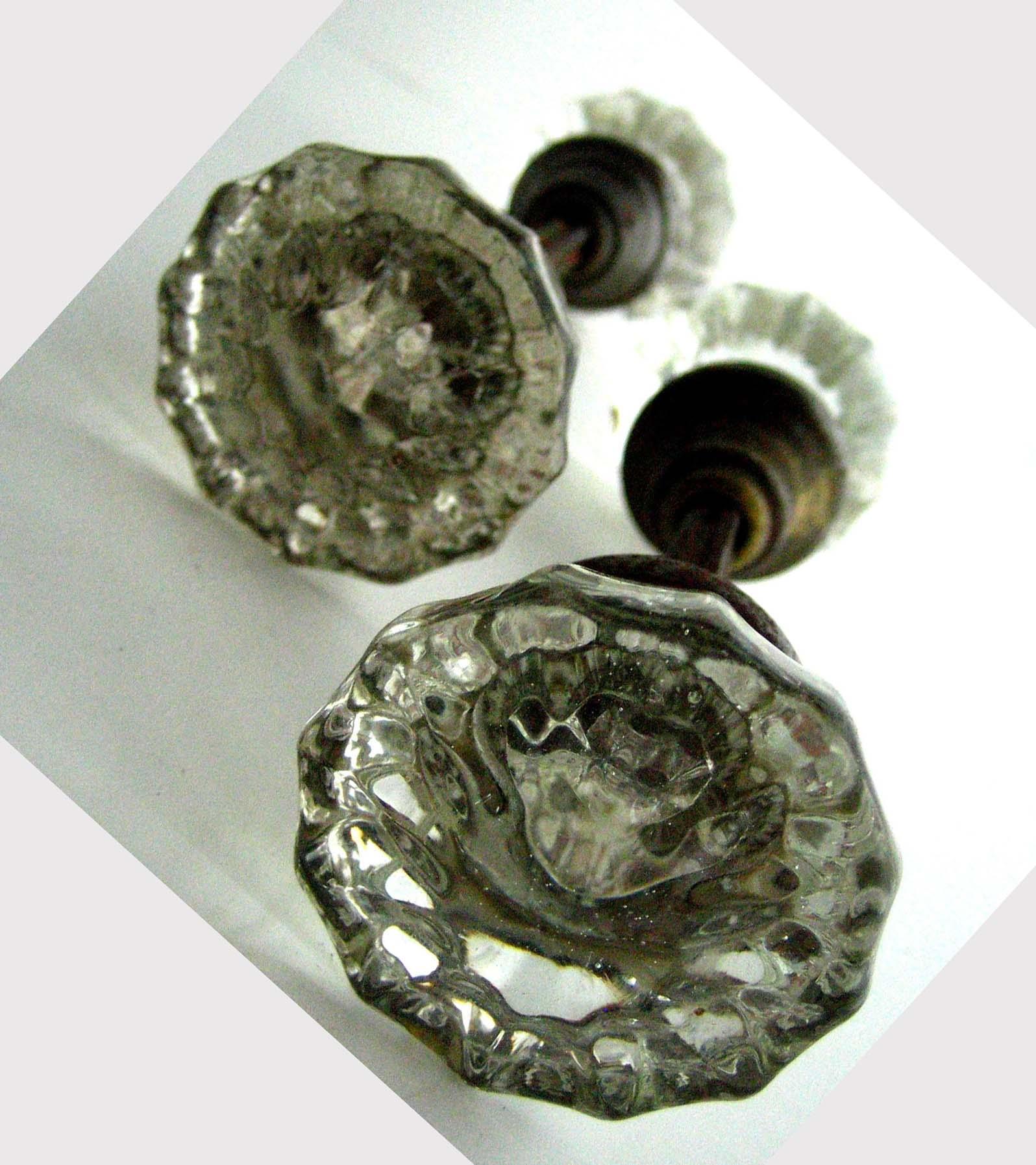 antique door knobs glass photo - 11