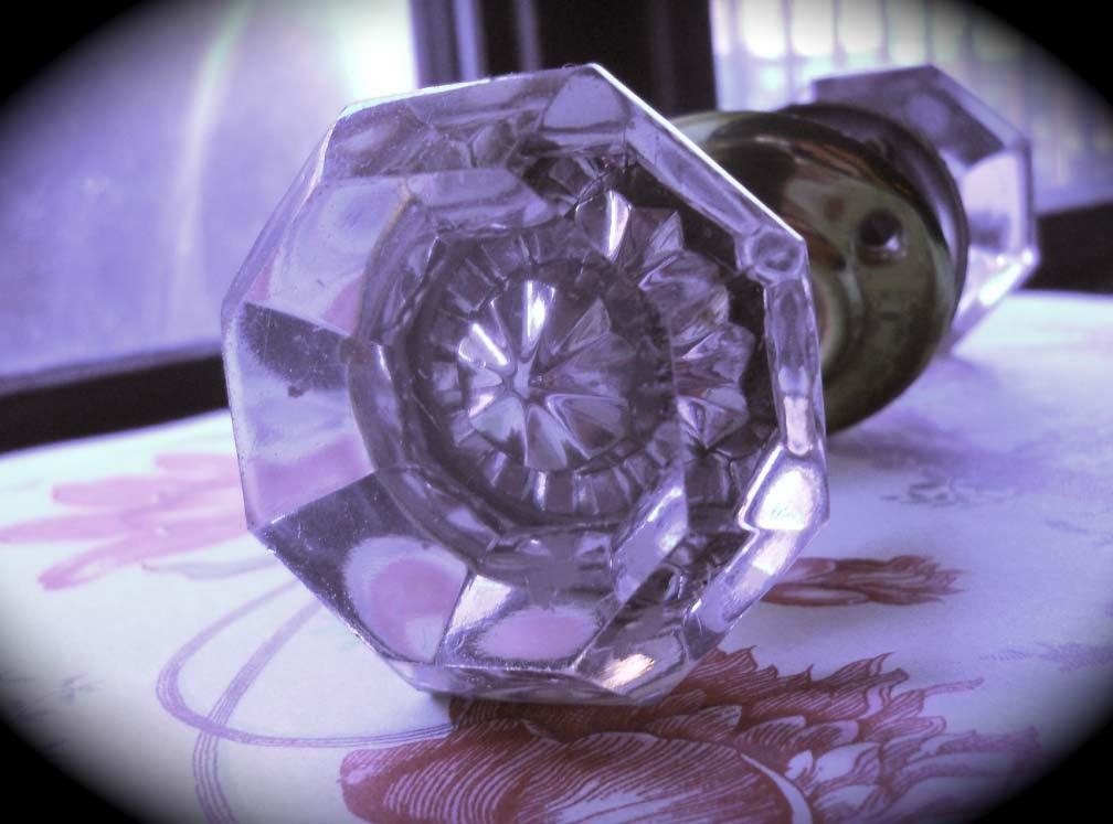 antique door knobs glass photo - 17