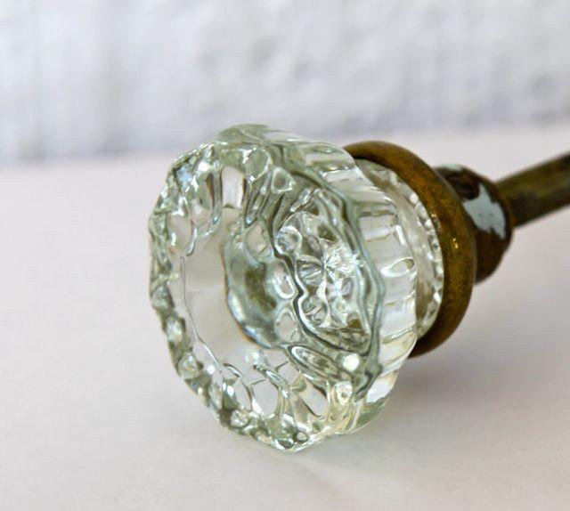 antique door knobs glass photo - 4