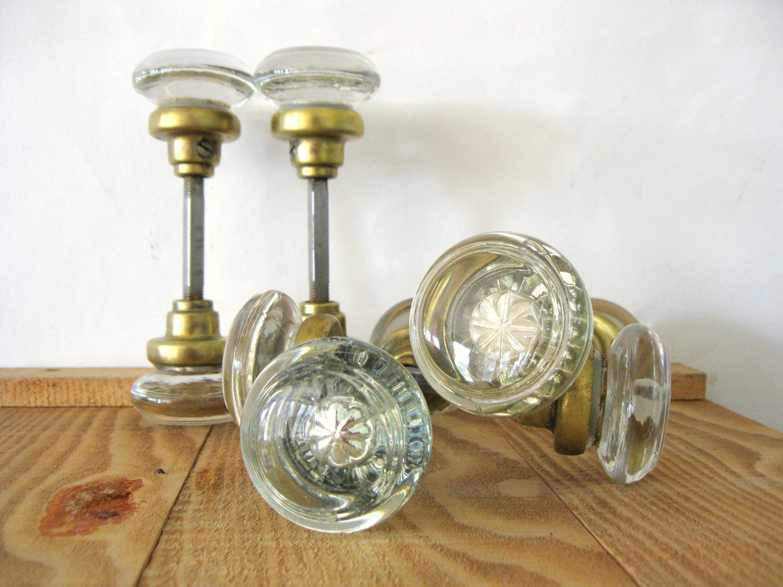 antique door knobs glass photo - 8