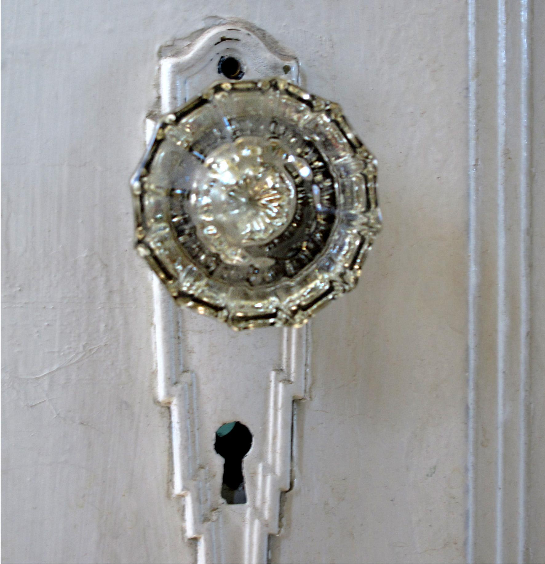 antique door knobs glass photo - 9