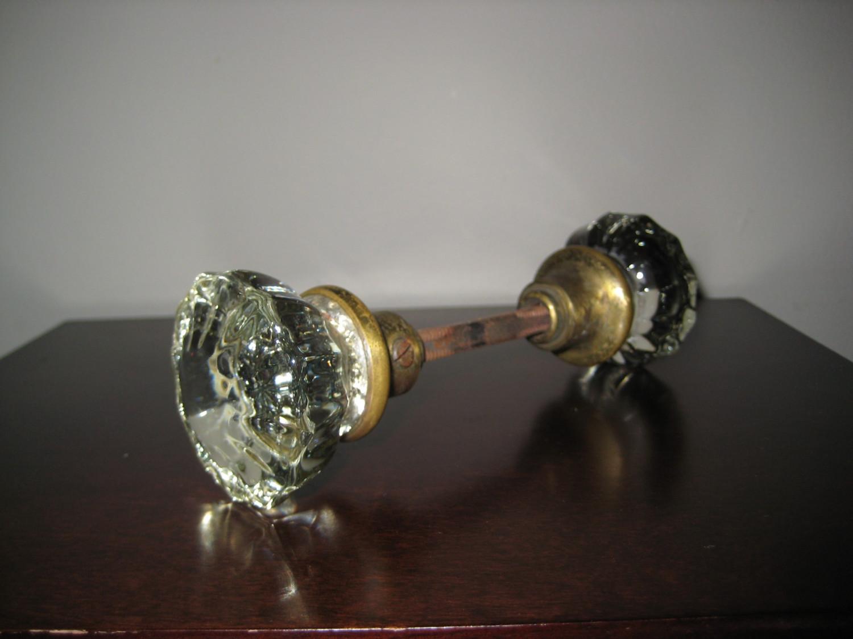 antique glass door knob photo - 2