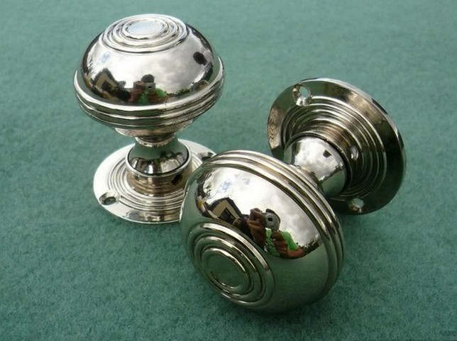 antique nickel door knobs photo - 6