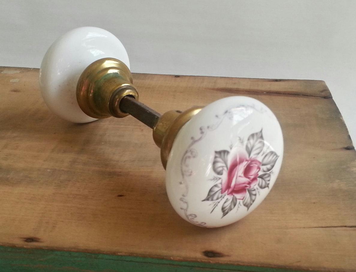 antique porcelain door knobs photo - 11