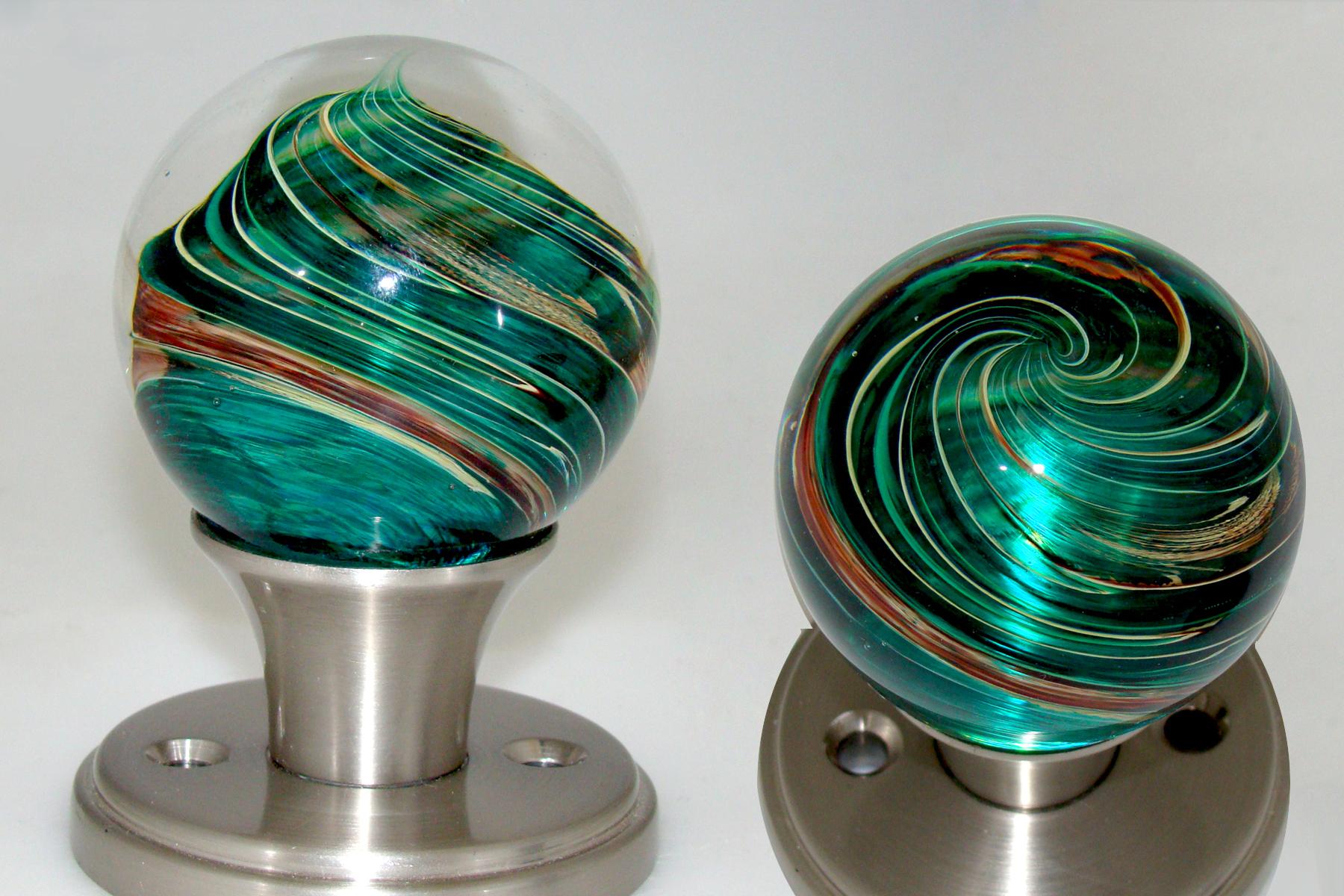 art glass door knobs photo - 6
