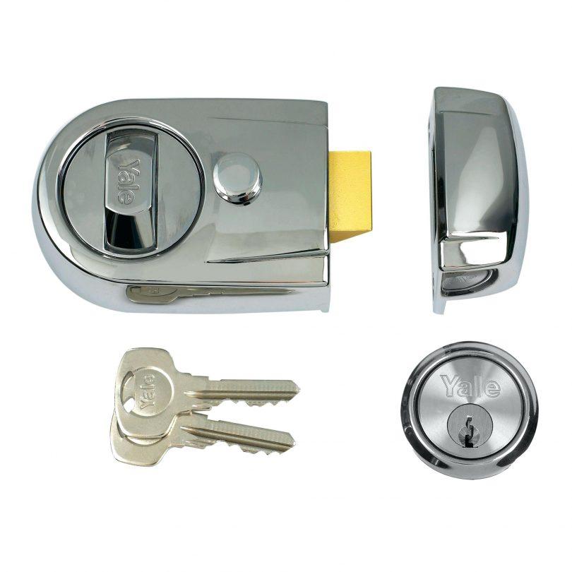 automatic locking door knob photo - 10