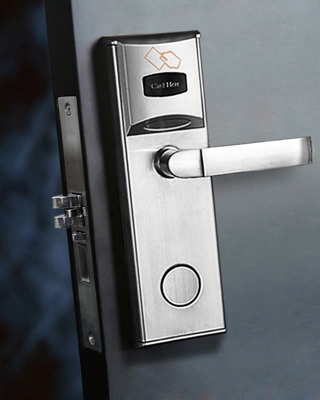 automatic locking door knob photo - 13