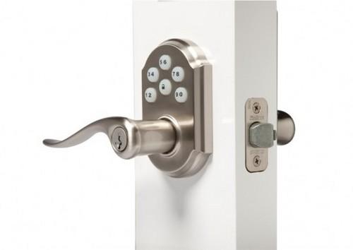 automatic locking door knob photo - 7